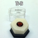 Garnet natural mineral/gemstone specimen in display box